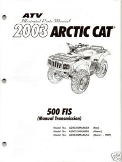 Arctic Cat ATV 400/500 MANUAL TRANS FIS Carburetor Carb