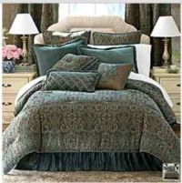 Chris Madden Damask Comforter Set California King NEW 5 Pc ...