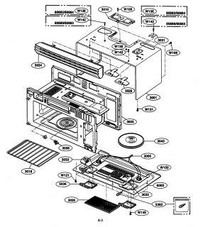 KENMORE ELITE Microwave range hood Parts Model 72180833500