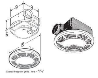 Broan Nutone Combination Fan/Light/Night Light Exhaust Fans at