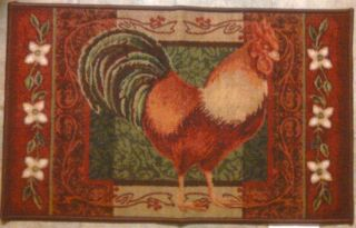 rooster kitchen rug full circle brush bowl of fruit accent mat specials 19 7 x 33 tuscan floor throw new