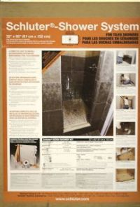 Schluter System Kerdi Shower kit 32x60 Off Center Drain