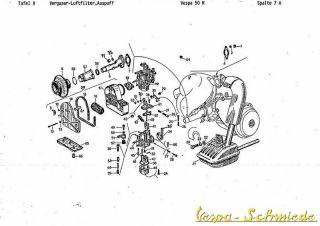 Schaltplan Vespa 50n Special