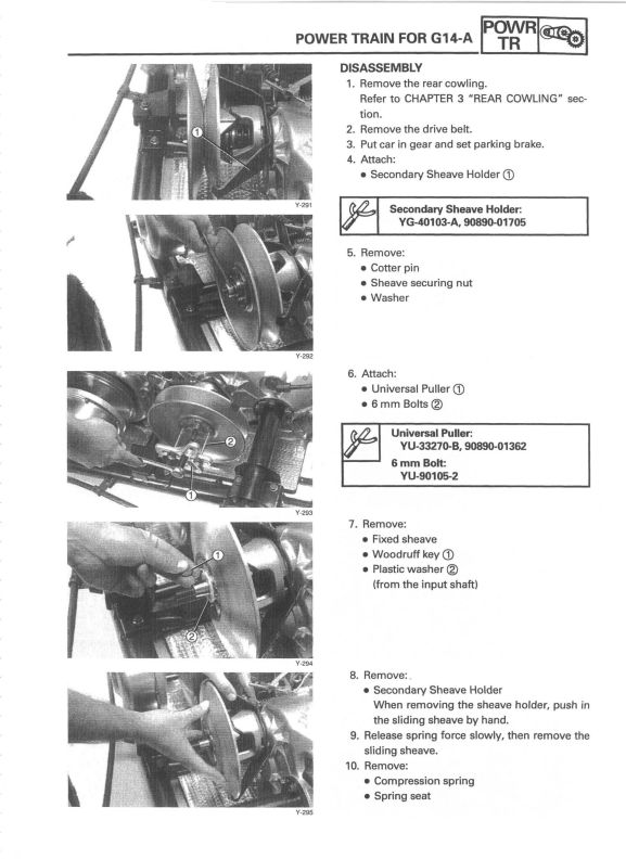Yamaha Golf Cart Service Repair Manual Parts G2 G9 G11 G14