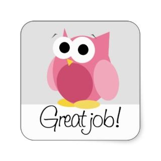 cute pink owl cartoon green
