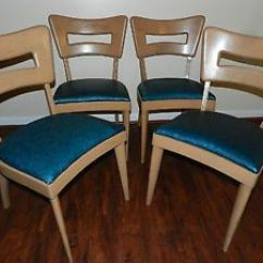 Heywood Wakefield Dogbone Chairs Stool Chair High Set Of 4 Dining 154a On Popscreen