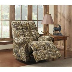 Camo Recliner Chair Camping Folding Realtree Living Camouflage Rocker Outdoors Plants Nature