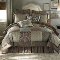 Chris Madden Mystical King Comforter Set New Black Gold ...