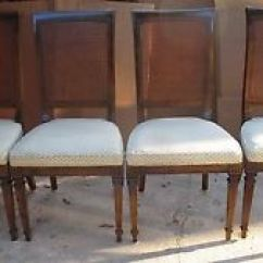 Ethan Allen Dining Room Chairs Adirondack Resin Set 4 Branded Circa 1970s