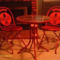 Coca Cola Chairs And Tables Swivel Accent Chair With Arms Nice Bistro Table Metal