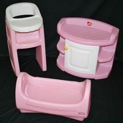 Baby Doll High Chairs Gaming For Kids Little Tikes Child Size Pink Cradle Chair Step 2 Changing Table