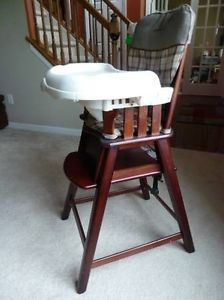 eddie bauer high chair comfy gaming chairs vintage wooden baby wood pick up only kansas