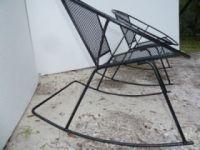 Pair Vintage Homecrest Swivel Rocker Chair Mid Century ...