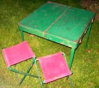 Original Vintage Coleman Metal Folding Camping Table with ...
