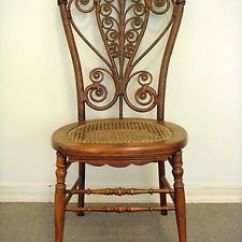Heywood Wakefield Wicker Chairs Ikea Wooden High Chair Victorian Rattan With Label Good Condition