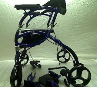 hugo navigator walker transport chair skyline furniture accent chairs 2 in 1 rollator combination rolling blue 349 99 retail