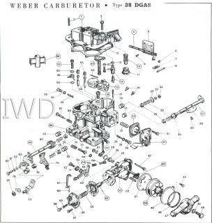 38 Dgas Weber Carburetor Parts Diagram Jeep Parts Diagram