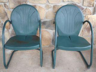 antique lawn chairs ostrich beach chair mid century metal spring garden patio porch retro vintage