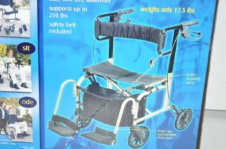 carex transport chair pink rocking ultra ride a228 00 all in one rollator new on