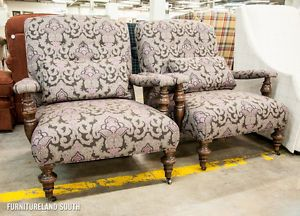 damask accent chair high top table and chairs robin bruce grey purple set