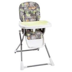 Safari High Chair Wing Recliner Leather Evenflo Compact Fold N Go Storage Zoo Friends Baby New