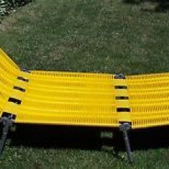 Folding Outdoor Lounge Chair Round Propane Fire Pit Table And Chairs Vtg Plastic Cushion Tube Aqua Webbed Patio Beach Lawn Vintage Kurz Retro Yellow Tubing Lounger