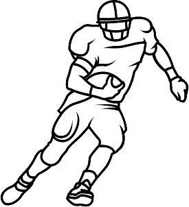 Football Player Outline Drawing Sketch Coloring Page