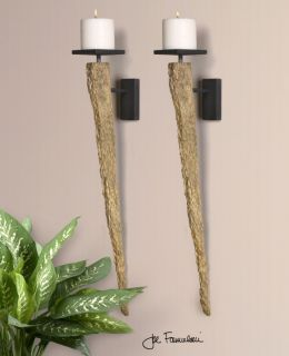 Polished Silver Finish Finish Contemporary 6 Candle Holders