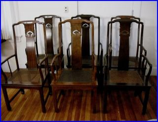henredon asian dining chairs camping lounge 6 vintage pan chinoiserie chippendale room set of chinese arm