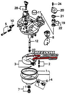 Honda Mower Carburetor Diagram, Honda, Free Engine Image