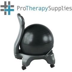 Ergonomic Chair Exercise Ball Modway Office Reviews Gaiam Black Sitting Balance Back Pain Relief
