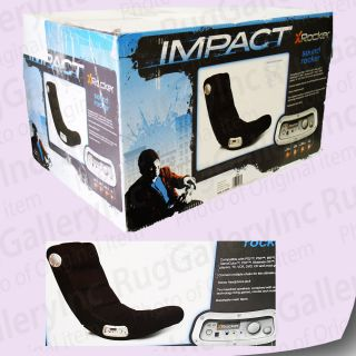 impact x rocker chair round cuddle mesh sound video seat gamer gaming xbox ps3