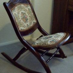 Antique Victorian Folding Rocking Chair Design Wing Platform On Popscreen