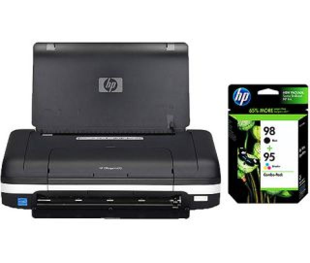 Hp Officejet H470 Mobile Printer And Hp Cb327fn Black Tri Color Retail Combo Pack Value Bundle Computers