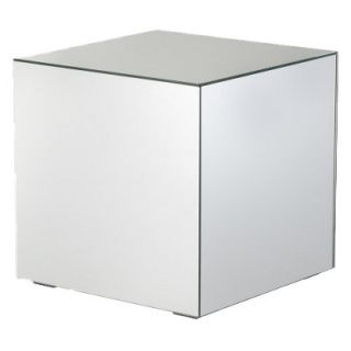 mirrored pyramid living room accent side end table contemporary wall cabinets cube