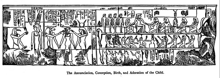 Iscrizione di Luxor presa dal libro 'The Historical Jesus and The Mythical Christ' di Massey