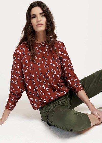 T-shirt Chiara a stampa macula - Coccio / Marina Animalier - Immagine categoria