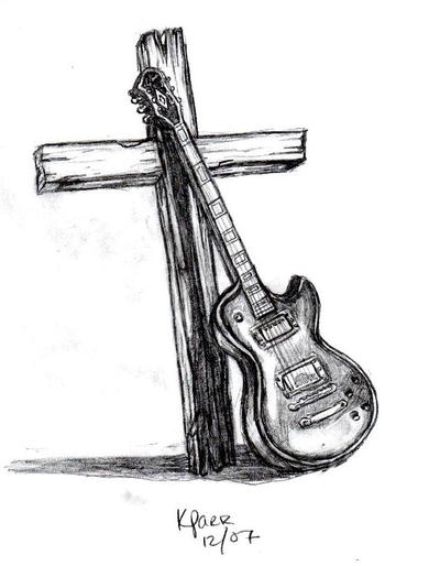guitar and cross by stylistic-division on DeviantArt