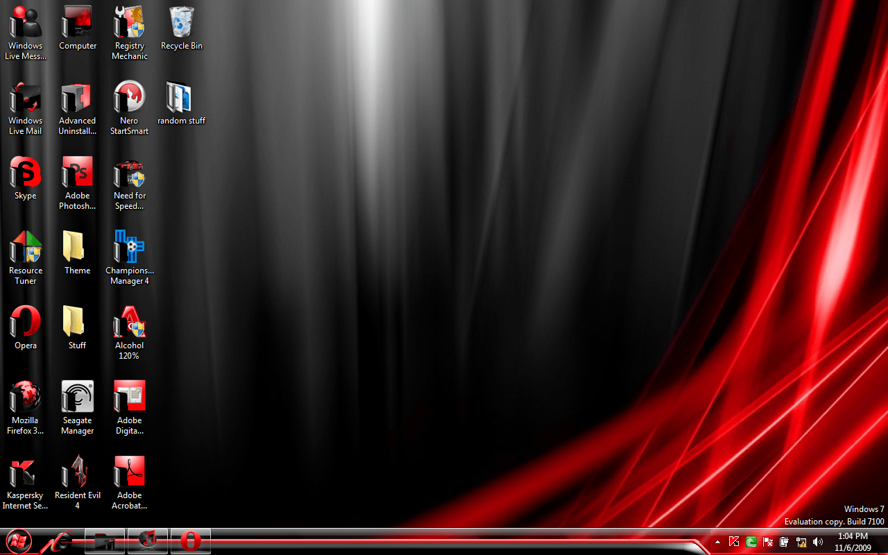 Win 7 Black and Red by DumDummer on DeviantArt