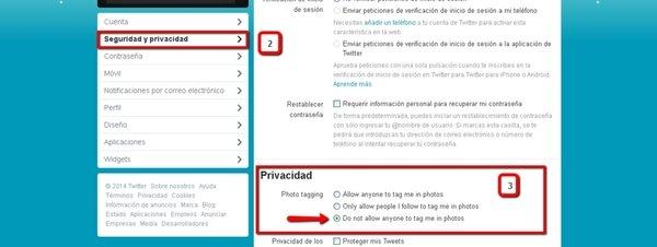 Cómo evitar que te etiqueten en las fotos de Twitter