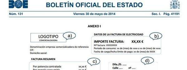 La nueva factura eléctrica incorporará información sobre el destino de lo abonado