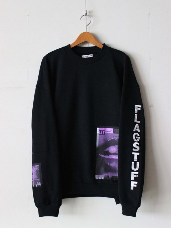 F-LAGSTUF-F|L/S SWEAT #BLACK