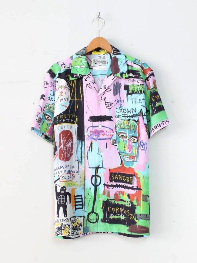 WACKO MARIA JEAN-MICHEL BASQUIAT   S/S HAWAIIAN SHIRT (TYPE 1) #ONE [BASQUIAT-WM-HI01]