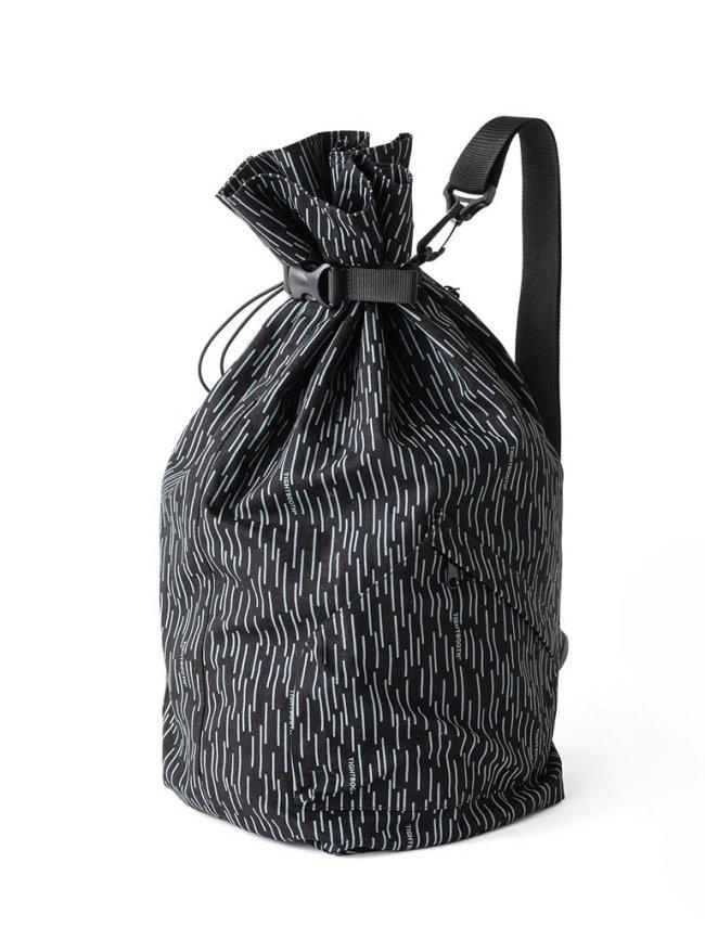 TIGHTBOOTH PRODUCTION RAIN CAMO KARATE DUFFLE #BLACK [FW20-A01]
