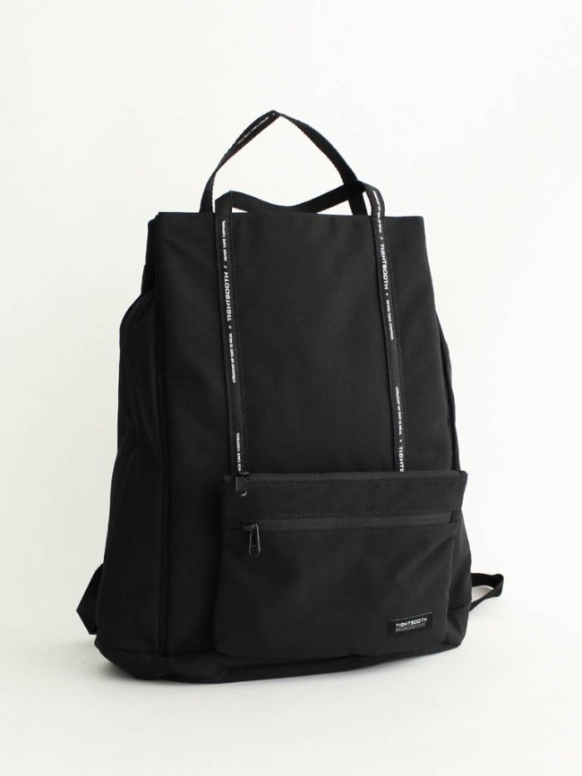 TIGHTBOOTH PRODUCTION LOGO TAPE BACKPACK #BLACK [FW20-A05]