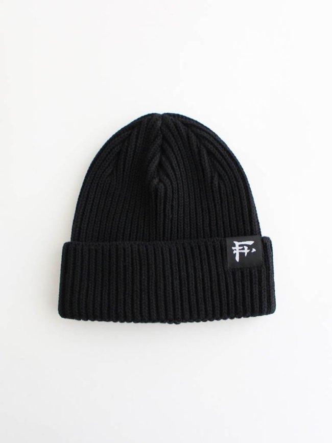 F-LAGSTUF-F|F LOGO KNIT CAP #BLACK [20AW-FS-101]
