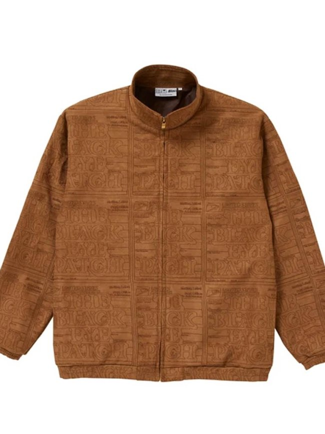 BLACK EYE PATCH|PRIORITY LABEL FAKE SUEDE TRACK JACKET #BROWN [BEPSS21TP01]