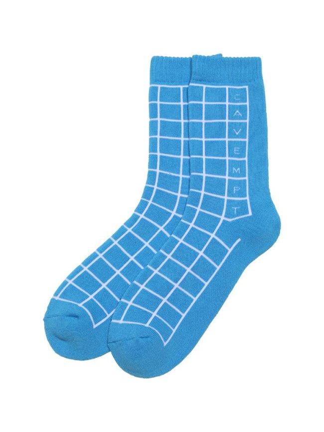 C.E CAVEMPT GRID SOCKS #BLUE [CES20G10]