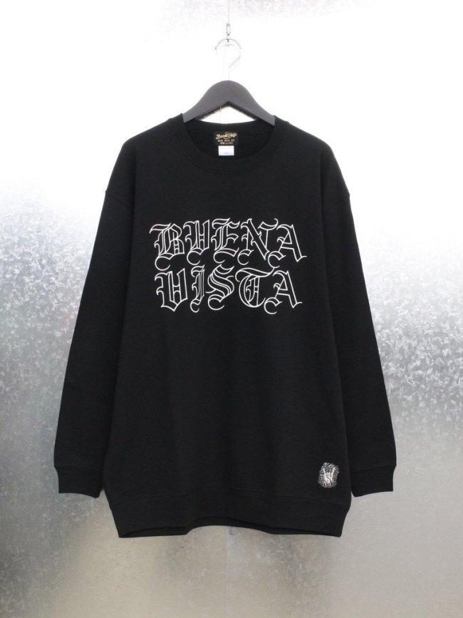 BUENA VISTA CREW NECK SWEAT TYPE 1 #BLACK [21-SWE-12]