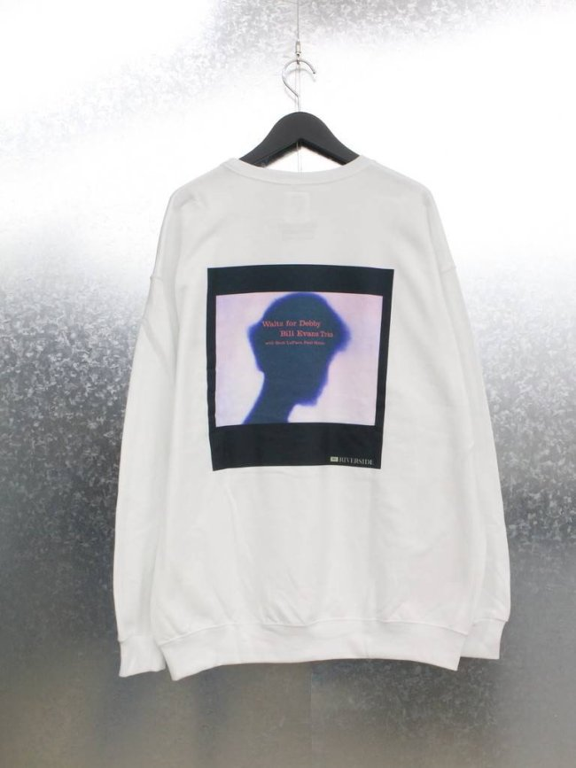 WACKO MARIA|BILL EVANS | CREW NECK SWEAT SHIRT TYPE 5 #WHITE [BILLEVANS-WM-SS05]